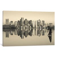 iCanvas 'Reflection of buildings in water, Boston, Massachusetts, USA' by Panoramic Images Canvas Print