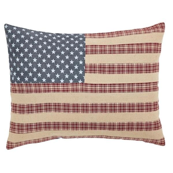 Shop Independence Flag FilledThrow Pillow 14x18
