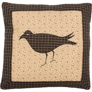 Kettle Grove FilledThrow Pillow Crow 16x16