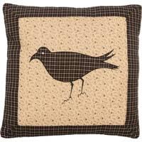 Kettle Grove FilledThrow Pillow Crow 16x16