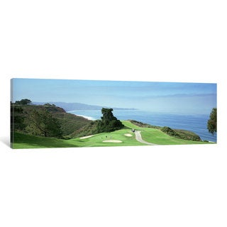 iCanvas 'Golf course at the coastTorrey Pines Golf Course, San Diego, California, USA' by Panoramic Images Canvas Print