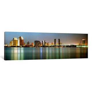 iCanvas 'City skyline at night, San Diego, California, USA' by Panoramic Images Canvas Print
