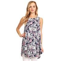 Women's Floral Pattern Sleeveless Top