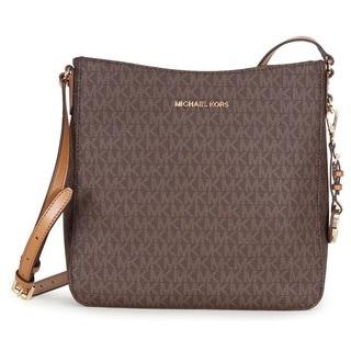 Michael Kors Jet Set Travel Brown Large Logo Crossbody Handbag