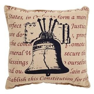Independence BellThrow Pillow 12x12