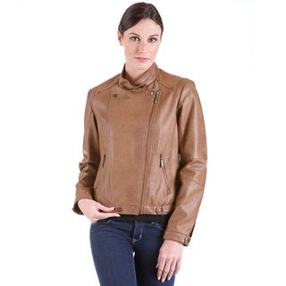 Leatherette Motorcycle Jacket