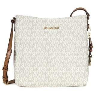 Michael Kors Jet Set Travel Vanilla Large Logo Crossbody Handbag