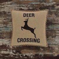 Dawson Star Deer CrossingThrow Pillow Down 18x18