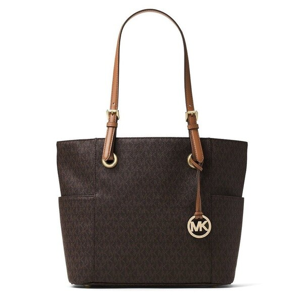 0af6573a9305 Shop Michael Kors Jet Set Travel Small Brown Logo Tote Bag - Free ...