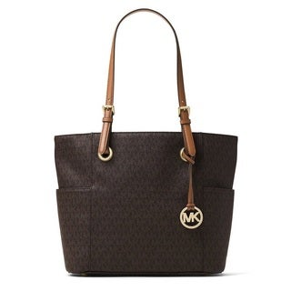 Michael Kors Jet Set Travel Small Brown Logo Tote Bag