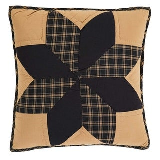 Black Primitive Bedding VHC Dakota Star 16x16 Pillow Cotton Star Patchwork (Pillow Cover, Pillow Insert)