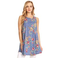 Women's Floral Pattern Sleeveless Top
