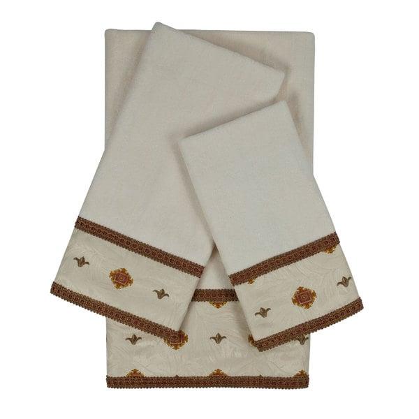 Sherry Kline Halifax Ecru Decorative Embellished Towel Set