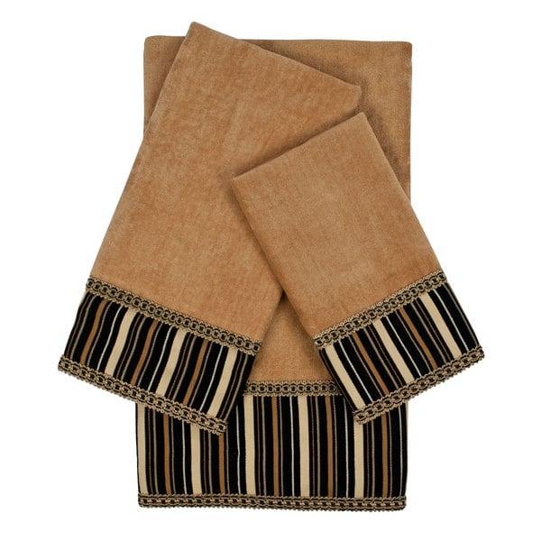 Sherry Kline Crandon Stripes Nugget Decorative Embellished Towel Set