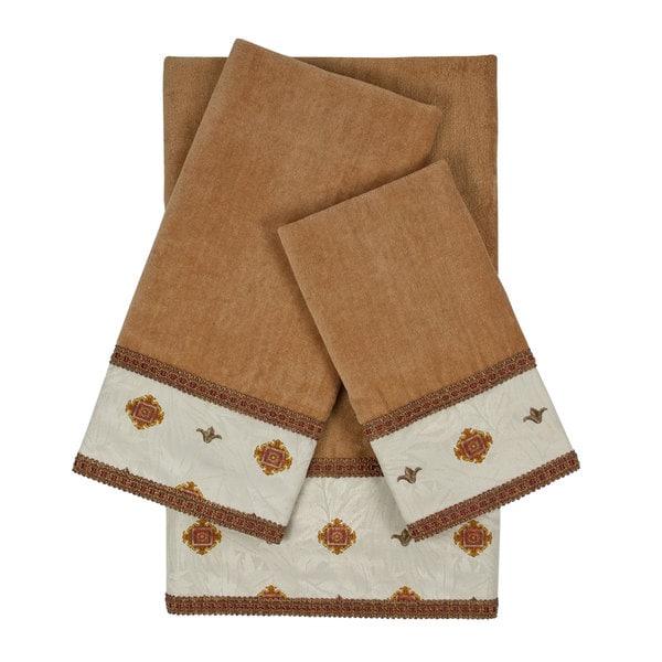 Sherry Kline Halifax Nugget Decorative Embellished Towel Set
