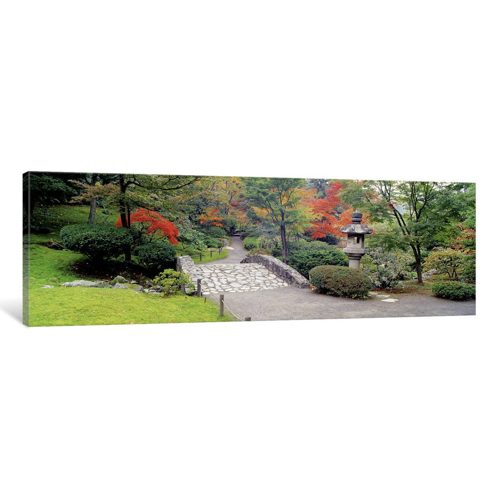 iCanvas Stone (Grey) BridgeThe Japanese Garden, Seattle, ...