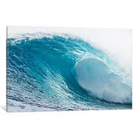 iCanvas 'Plunging Waves I, Sout Pacific Ocean, Tahiti, French Polynesia' by Panoramic Images Canvas Print