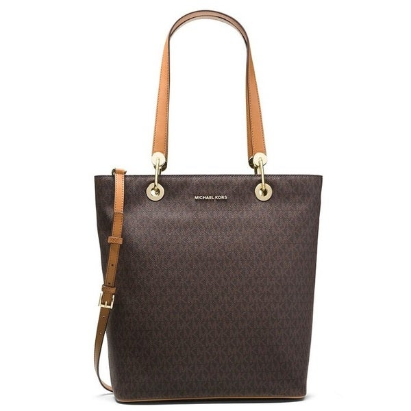 ac9323d183c7 Shop Michael Kors Raven North/South Brown Large Tote Bag - On Sale ...