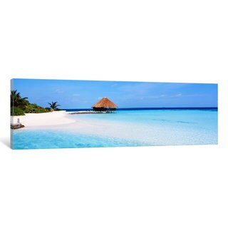 iCanvas 'Beach Scene The Maldives' by Panoramic Images Canvas Print