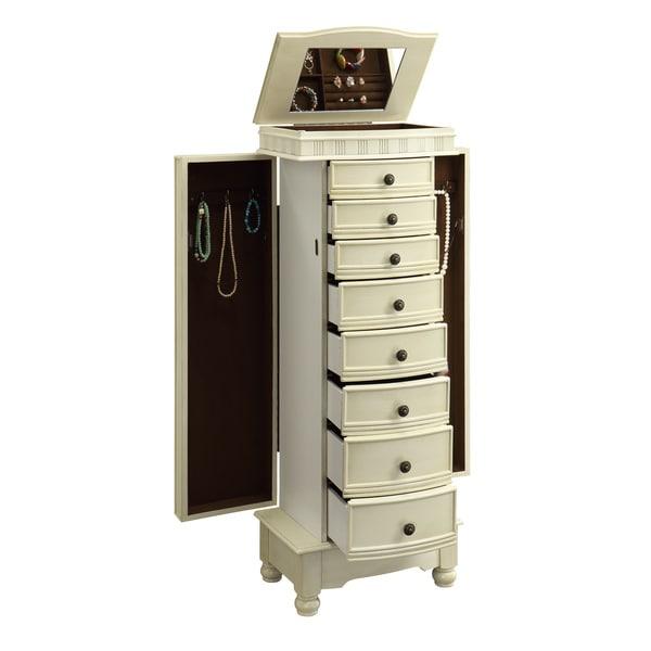 Powell Murphy Cream Jewelry Armoire