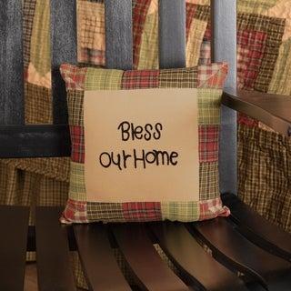 Tea CabinThrow Pillow Bless Our Home 10x10