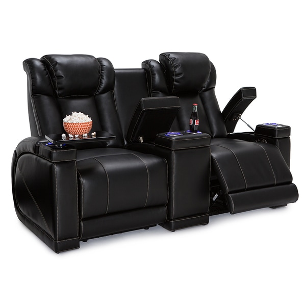 Shop Seatcraft Sigma Leather Gel Home Theater Seating
