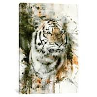 iCanvas 'Tiger I' by Riza Peker Canvas Print
