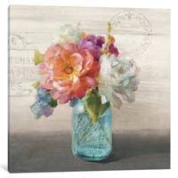 iCanvas 'French Cottage Bouquet I' by Danhui Nai Canvas Print