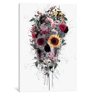 iCanvas 'Floral Skull Series: I' by Riza Peker Canvas Print
