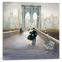 iCanvas 'Bridge To New York' by Julia Purinton Canvas Print