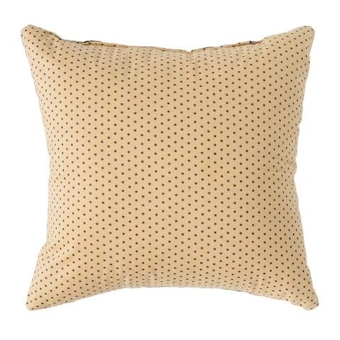 Black Primitive Bedding VHC Kettle Grove Star 10x10 Pillow Cotton Appliqued