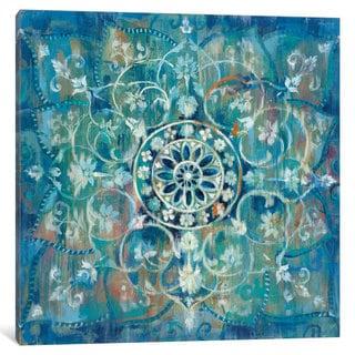 iCanvas 'Mandala In Blue III' by Danhui Nai Canvas Print