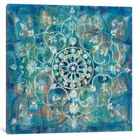 iCanvas 'Mandala In Blue III' by Danhui Nai Canvas Print