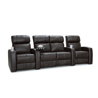 Palliser Westley Leather Home Theater Seating Power Recline - Row of 4 w/ Loveseat, Brown