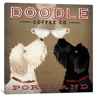 iCanvas 'Doodle Coffee Co.' by Ryan Fowler Canvas Print
