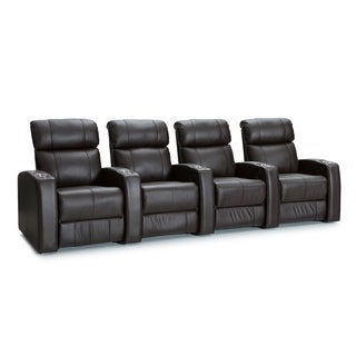 Palliser Westley Leather Home Theater Seating Power Recline - Row of 4, Brown