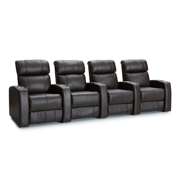 Shop Palliser Westley Leather Home Theater Seating Power