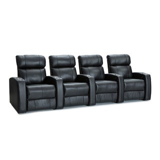 Palliser Westley Leather Home Theater Seating Power Recline - Row of 4, Black