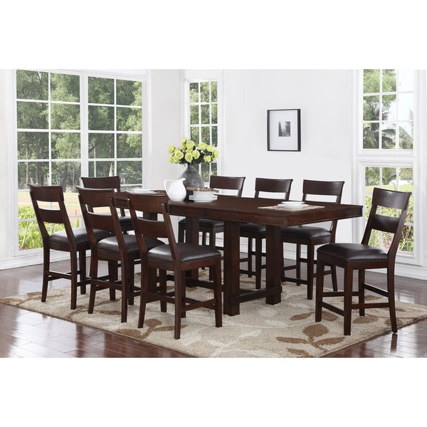 9 piece counter height dining room sets shop alden 9 counter height dining set free 9159