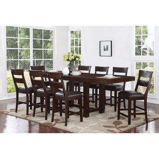 Alden 9 Piece Counter Height Dining Set