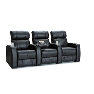 Palliser Westley Leather Home Theater Seating Power Recline - Row of 3, Black