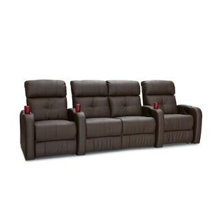 Palliser Terra Brown Home Theater Row of 4 Manually Reclining Seats