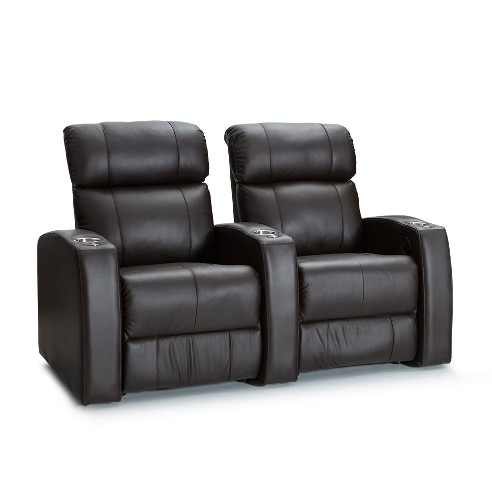 Palliser Westley Leather Home Theater Seating Power Recli...