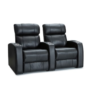 Palliser Westley Leather Home Theater Seating Power Recline - Row of 2, Black