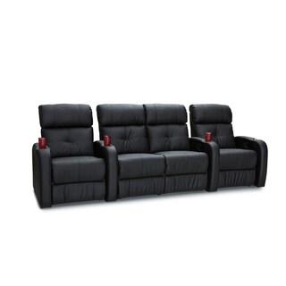 Palliser Terra Black Row of 4 Manual Recline Home Theater Seats