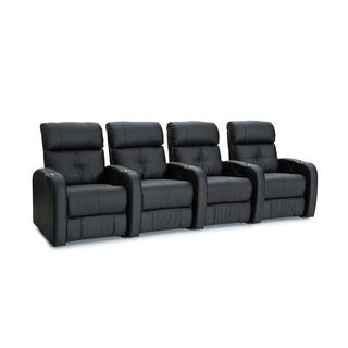 Palliser Terra Black Manual Recline Home Theater Seating (Row of 4)