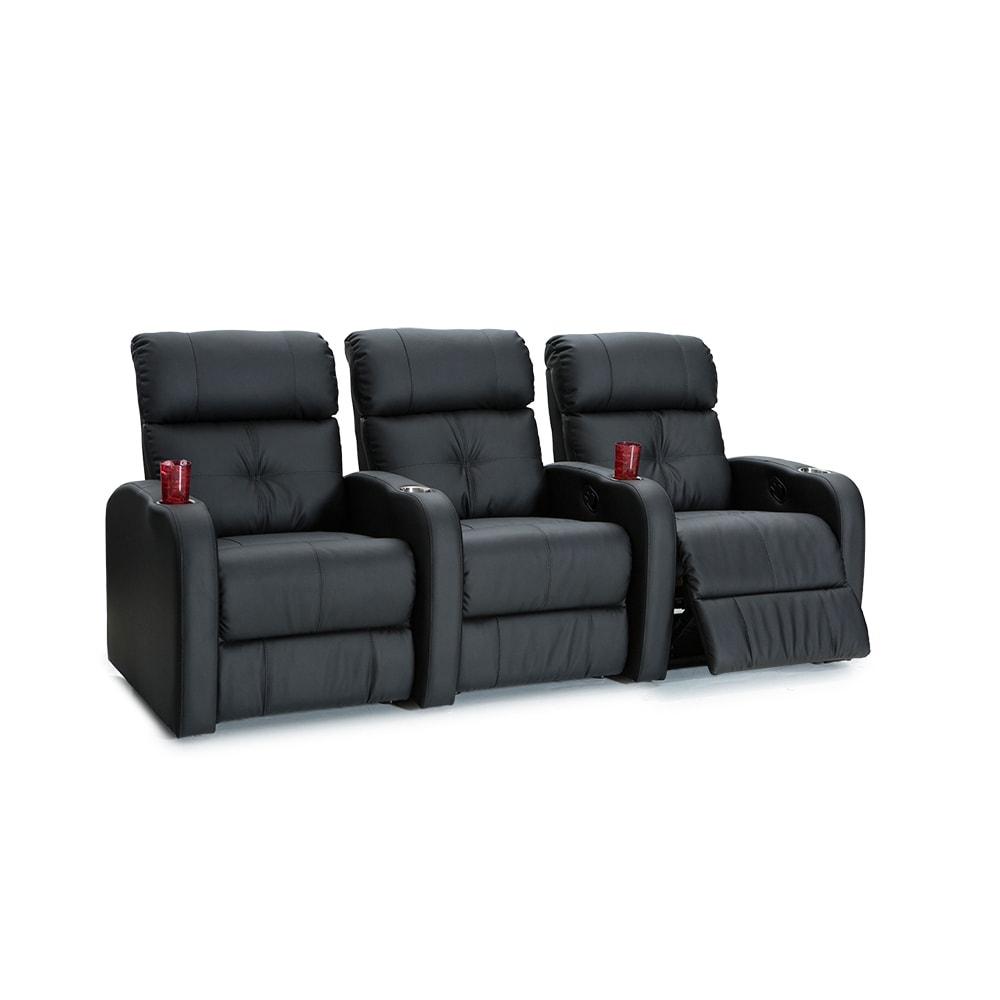 Palliser Terra Black Polyurethane Manual-recline 3-seat H...