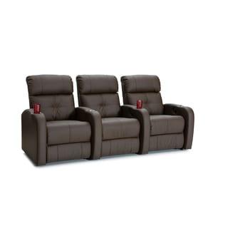 Palliser Terra Brown Polyurethane Manual-recline Home Theater Seating (Row of 3)