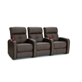 Charmant Palliser Terra Brown Polyurethane Manual Recline Home Theater Seating (Row  Of 3)