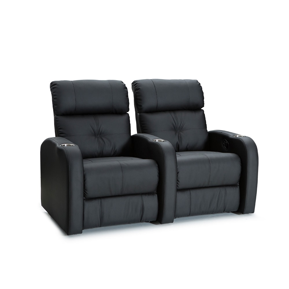 Palliser Terra Black 2-seat Home Theater Seating Row (Row...